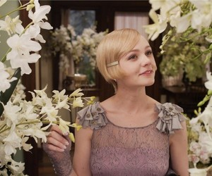 Carey Mulligan, flowers, and the great gatsby image