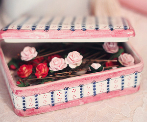 pink, rose, and box image