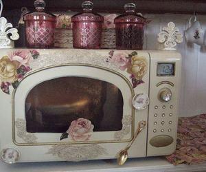 vintage, Microwave, and pink image
