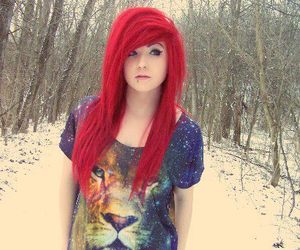 girl, red hair, and dyed hair image