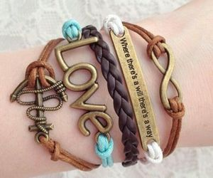 infinity, love, and bracelet image