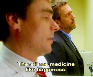 dr house, gregory house, and happiness image