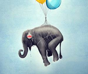 Flying, painting, and balloons image