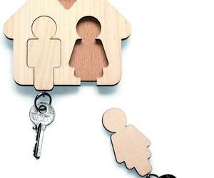 key, couple, and home image