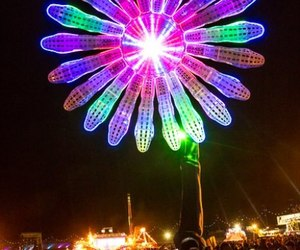 neon, rave, and electric daisy carnival image