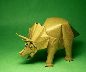 art, dinosaur, and origami image