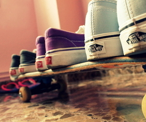 vans, shoes, and skate image