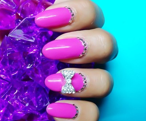 girly, violette, and nail image