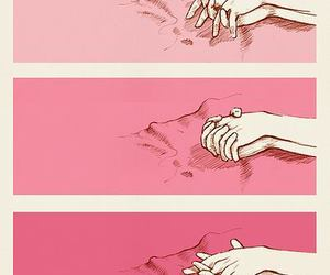 love, hands, and pink image