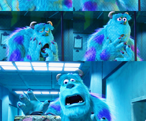 disney, monsters inc, and blue image