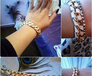 rhinestones and chain bracelet image
