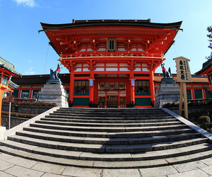 architecture, shrine, and sky image