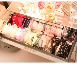 bras, lingerie, and drawer image