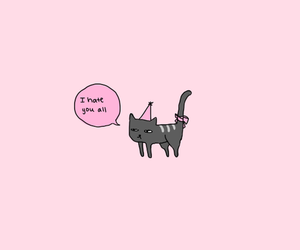 cat, hate, and pink image
