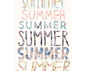 summer, art, and text image