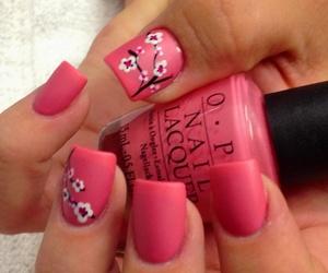 nails, pink, and sakura image