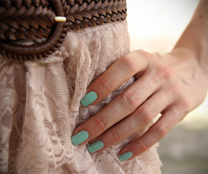 fashion, nails, and belt image