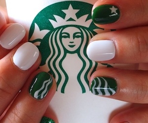 nails, starbucks, and green image