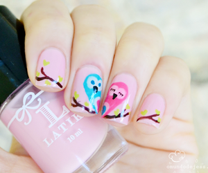 pink, nails, and love image
