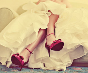 shoes, dress, and red image