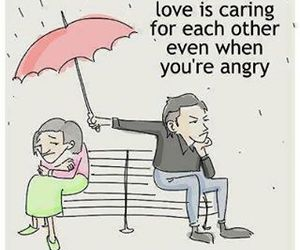 angry, caring, and love image
