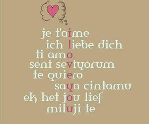 love, I Love You, and language image