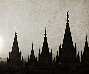 art, castle, and black and white image