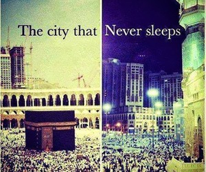 city, islam, and sleep image