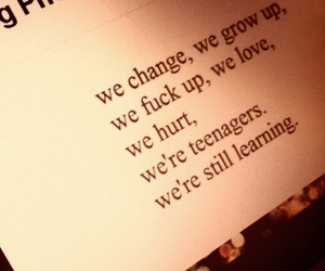 teenager, quotes, and change image