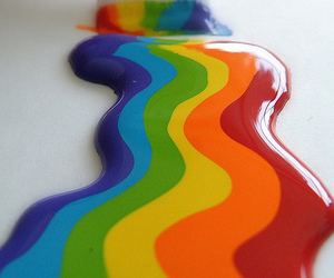 rainbow, paint, and colors image