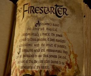 book, fire, and firestarter image