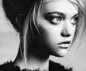 Gemma Ward, model, and black and white image