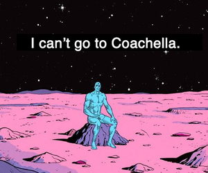 coachella, sad, and music image