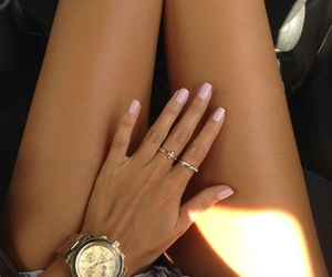 accessories, tan, and watch image