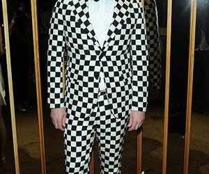 celebrity style, celebrity fashion, and checker print image