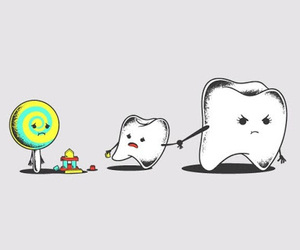 candy, teeth, and sweet image