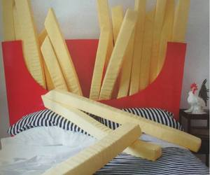 bed, food, and fries image