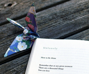 alone, book, and origami image