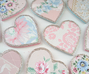 hearts, vintage, and heart image