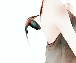 bird, art, and anime image
