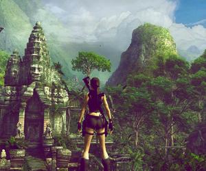 explore, forest, and lara croft image