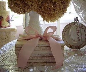 book, pink, and bow image
