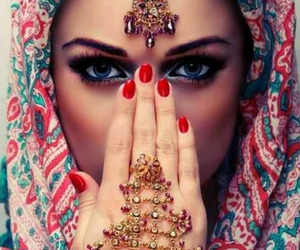 eyes, woman, and beauty image