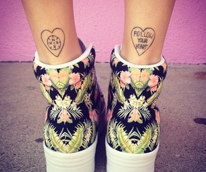 tattoo, shoes, and heart image