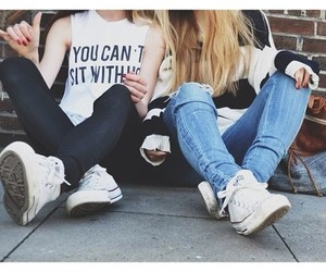 bffs, converse, and girl image