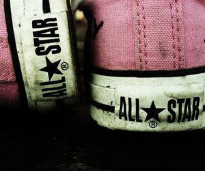 pink, shoes, and all star image