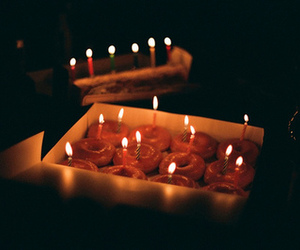 candle, birthday, and food image