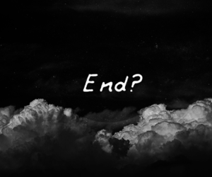 end, black, and clouds image