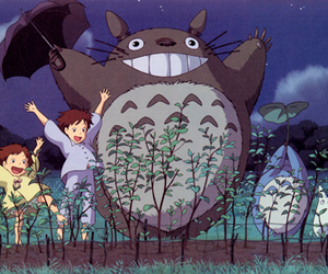 totoro, anime, and happy image