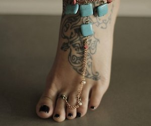 tattoo, feet, and nails image